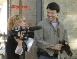 In this Dec. 27, 2006 photo provided by the National Enquirer, former U.S. Sen. John Edwards, D-NC, is shown with videographer Rielle Hunter in the 9th Ward of New Orleans, La. On Friday, Aug. 8, 2008, Edwards admitted to having an affair with Hunter. (AP Photo/The National Enquirer)