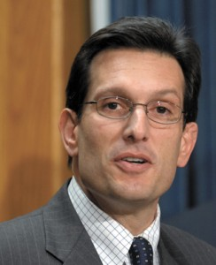 Reps Eric Cantor (R-VA) and Rep. Howard P. Buck McKeon (R-CA) give a news conference in the House Raido and TV Gallery on \