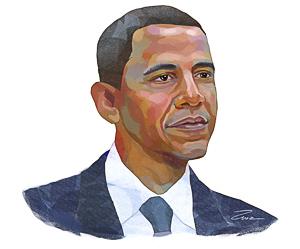 Obama Cartoon Be Himself