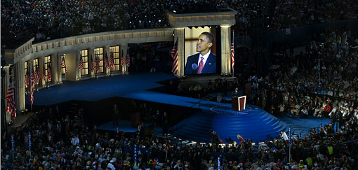 Obama Acceptance Speech Photo