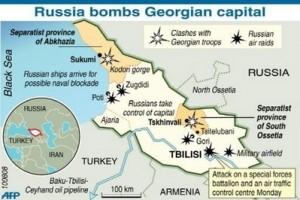 Russia Makes Move On Abkhazia - Abkhazia georgia russia map