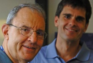 Skip Caray with Son Chip Caray Photo
