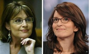 Separated at Birth? Writer - actress Tina Fey makes an appearance on MTV's Total Request Live at MTV Studios, in this Tuesday, April 22, 2008 file photo in New York. Fey is 'likely' to return to her former show, 'Saturday Night Live,' Saturday to play the Alaskan governor and Sen. John McCain's running mate, a person close to the show told The Associated Press on Friday night Sept. 12, 2008.<br /> (AP Photo/Evan Agostini, FILE)