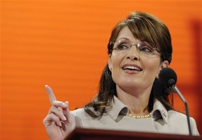 Republican vice presidential candidate, Alaska Gov. Sarah Palin, speaks during the Republican National Convention in St. Paul, Minn., Wednesday, Sept. 3, 2008. (AP Photo/Susan Walsh)