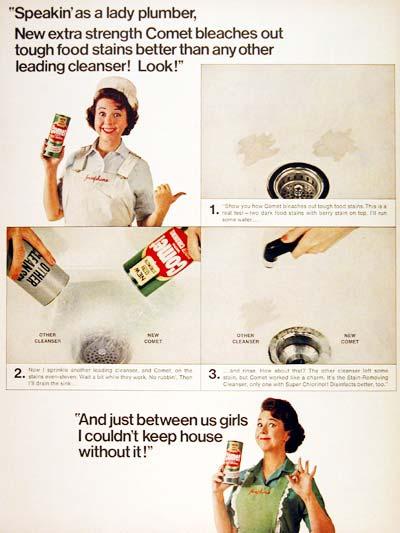 Josephine the Plumber Comet Ad (1964)