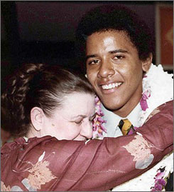 Barack Obama with his grandmother Madelyn Dunham at his high school graduation in 1979. (Photo: Obama for America, via Associated Press)
