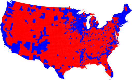 2008 Election County-By-County Map