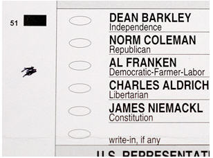 Coleman Franken Disputed Ballot 3