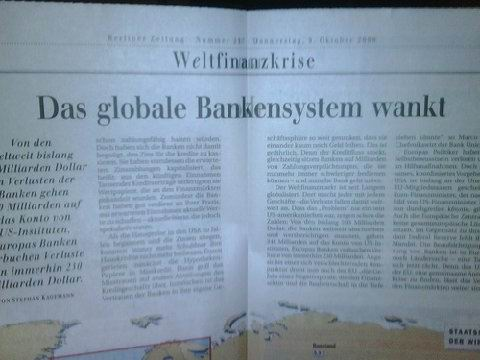 """""""Global Banking System Staggers"""""""