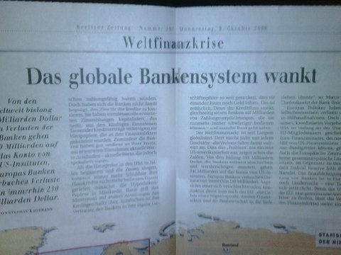Global Bankensystem Wankt