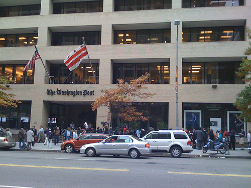 Waiting in line to get a commemorative November 5, 2008 Washington Post. Two hour wait.