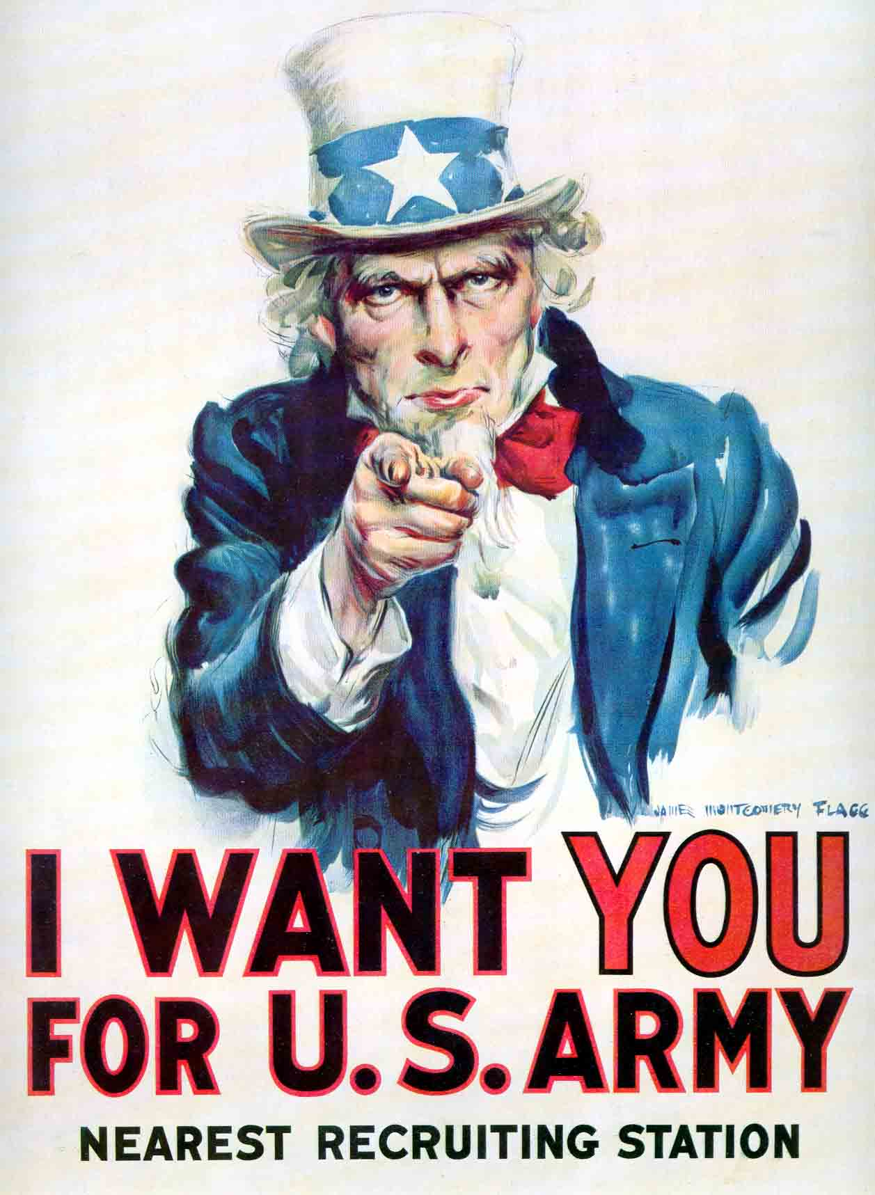 Uncle Sam Army Recruiting Poster