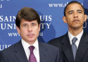 In this June 20, 2005, photo, Gov. Rod Blagojevich, D-Ill., speaks as Sen. Barack Obama, D-Ill., listens during a news conference in St. Louis. Federal authorities arrested Blagojevich Tuesday Dec. 9, 2008, on charges that he brazenly conspired to sell or trade the U.S. Senate seat left vacant by President-elect Barack Obama to the highest bidder.