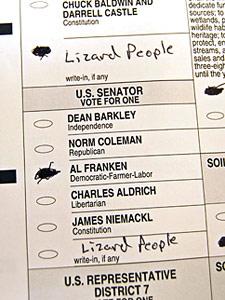 Lizard People ballot