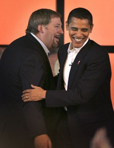 Rick Warren and Barack Obama at Saddleback