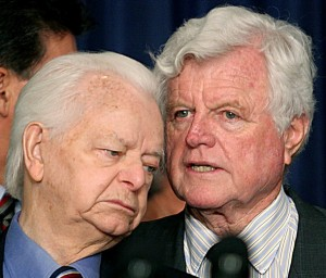 Senators Robert Byrd and Edward Kennedy, June 2006