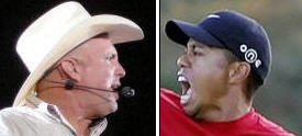 Tiger Woods and Garth Brooks at Obama Inauguration