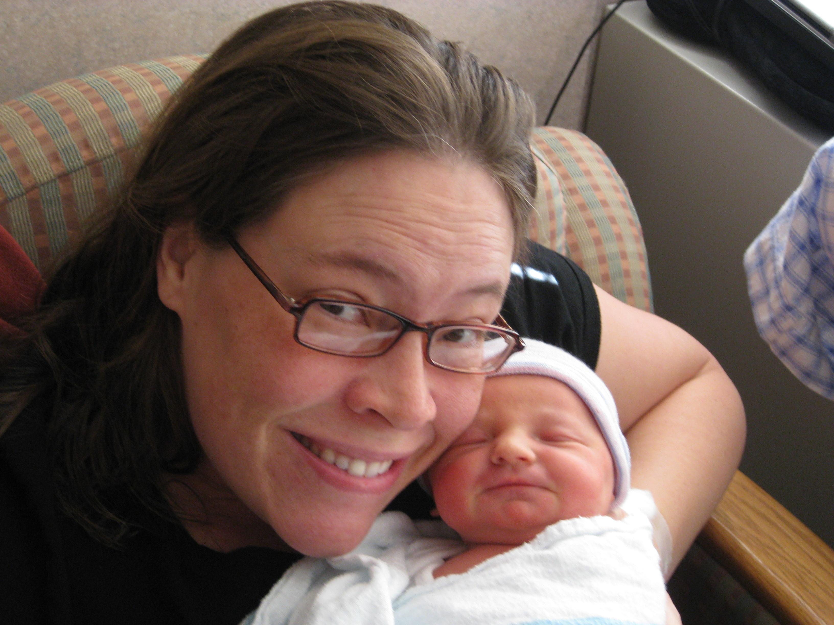 Kim Joyner and Baby Katie, New Year 2009
