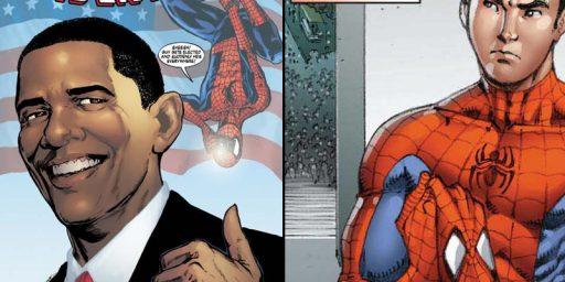 Marvel Team-up:  Obama and Spider-man