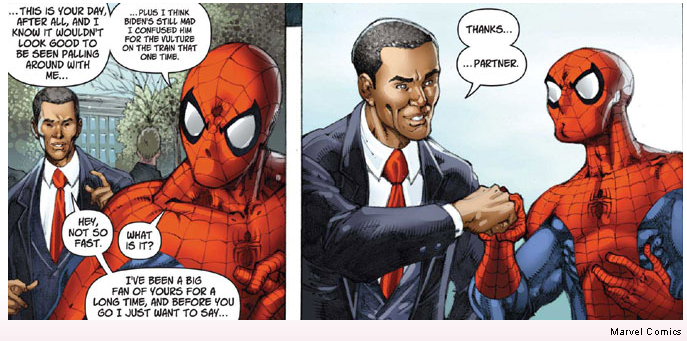 Marvel team up obama and spider man the issue sciox Image collections