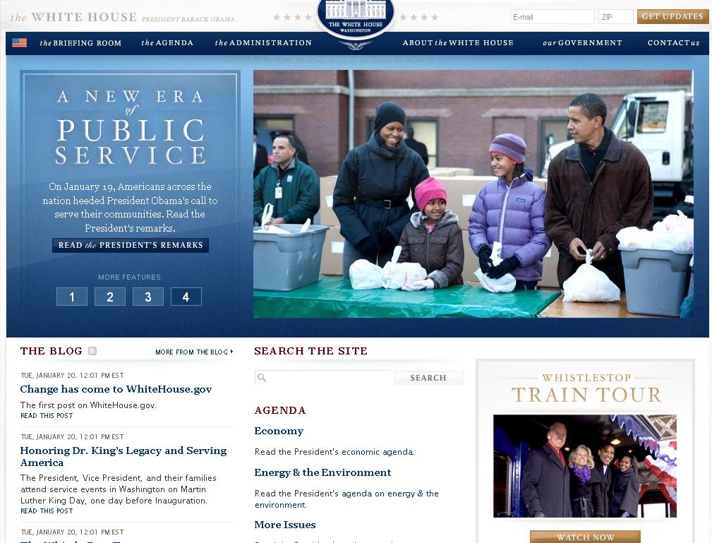 Whitehouse.gov Gets Makeover