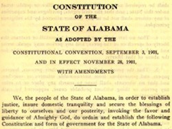 Constitution of the State of Alabama, 1901