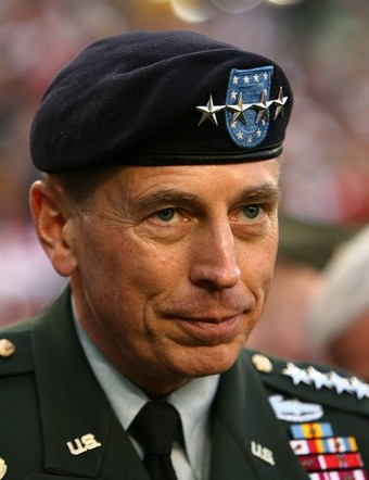 General David Petraeus Super Bowl Stars Beret Photo