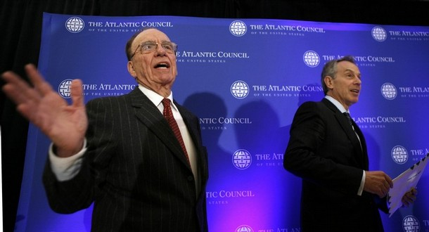 Rupert Murdoch and Tony Blair Atlantic Council Photo