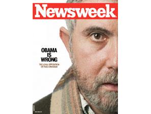 Paul Krugman Obama is Wrong Newsweek Cover