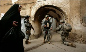 Because of the level of insurgent activity in the northern city of Mosul, American combat forces may be allowed to stay there past the June 30 withdrawal deadline. (Maya Alleruzzo/Associated Press)