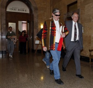 University of Colorado professor Ward L. Churchill, left, with attorney David Lane after the verdict. (David Zalubowski, Associated Press) April 2, 2009