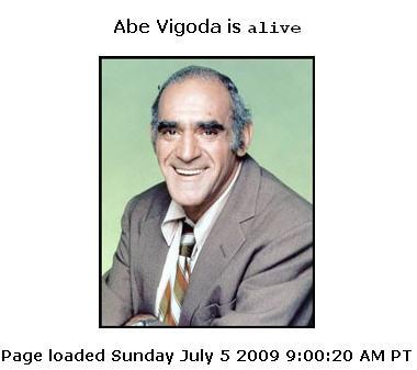 Abe Vigoda Still Alive