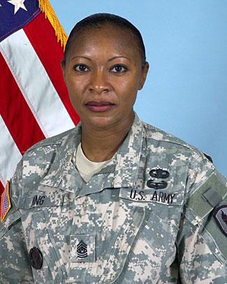 CSM Teresa King Chief Drill Sergeant