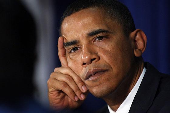 Obama Looking Glum Photo