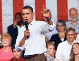President Obama no necktie photo
