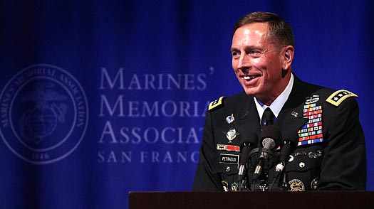 Gen. David Petraeus, commander of U.S. Central Command, lectures in San Francisco. Justin Sullivan / Getty