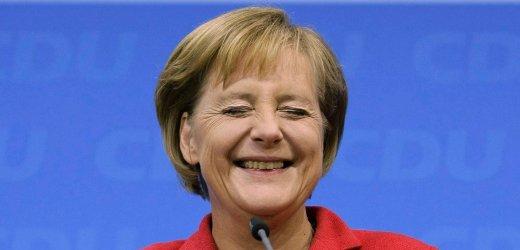 Angela Merkel Grinning