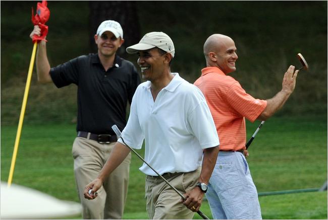 Obama Golf Boys