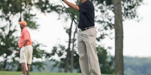 Obama Ties Bush on Golf