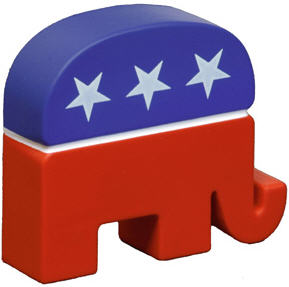Republican Elephant Angled