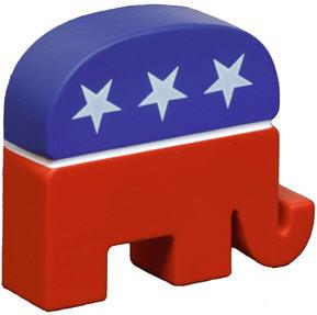 Republican Elephant Angled