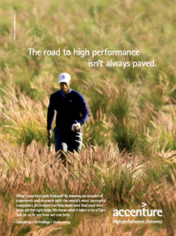 Tiger Woods Road High Performance Isn't Paved Accenture Ad