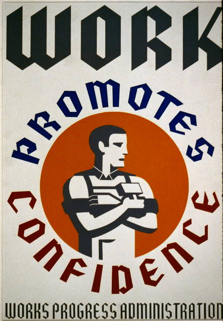 WPA Work Promotes Confidence Poster