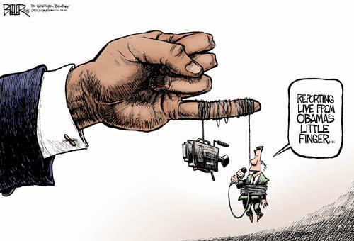 Obama Media Control Cartoon
