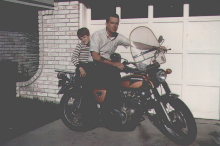 James and Dad - motorcycle