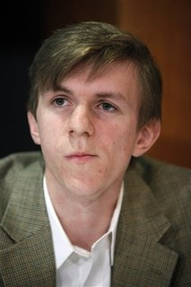 In a Wednesday, Oct. 21, 2009 file photo, activist James O'Keefe attends a news conference at the National Press Club in Washington. O'Keefe was among four people arrested Monday, Jan. 25, 2010 and accused of trying to interfere with phones at U.S. Sen. Mary Landrieu's New Orleans office. O'Keefe was the brains behind a series of undercover videos which have caused major problems for ACORN — the Association of Community Organizers for Reform Now. (AP Photo/Haraz N. Ghanbari, File)