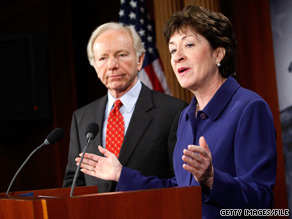 Sens. Joseph Lieberman and Susan Collins call the hiring situation at the Department of Homeland Security 'unacceptable.'.