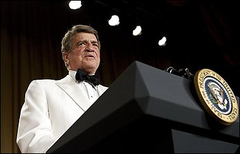 In this Saturday, April 26, 2008 picture, former Texas Rep. Charlie Wilson speaks at the Annual Dinner of the White House Correspondents' Association in Washington. According to a hospital spokesperson, Wilson, 76, died in Lufkin, Texas on Wednesday, Feb 10, 2009. (AP Photo/Haraz N. Ghanbari) (Haraz N. Ghanbari - AP)