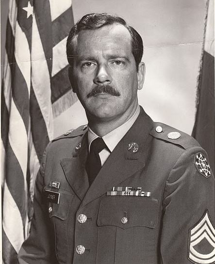 Here's an official photo of dad circa 1977-78.  It was rare to see him in uniform, as he usually wore civvies to work as a CID special agent.  In fact, he was on narcotics duty circa 1978-79 and grew a beard and let his hair get longer.