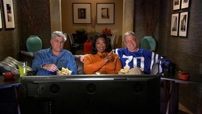 Super Bowl Ads Letterman Winfrey Leno